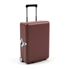 Travel bag on white background.