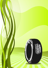 Background of car tire design
