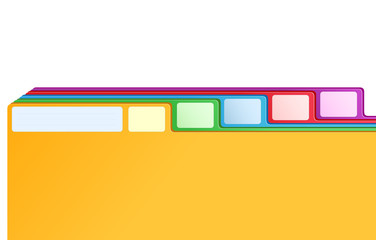 multicolored archive bookmarks of card index