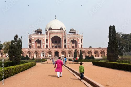 Spoed canvasdoek 2cm dik Delhi Meczet Jama Masjid, Delhi, Indie