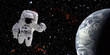 Leinwanddruck Bild - Astronaut in space
