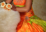 Teen Girl and Prom Dress and Flowers poster