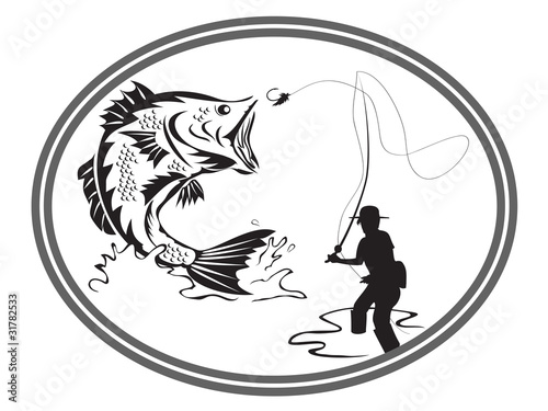 fishing bass emblem