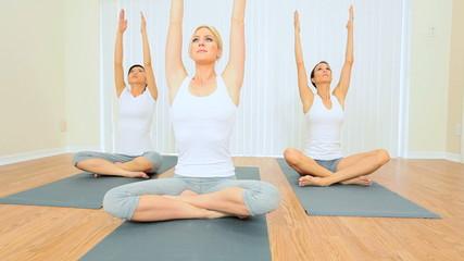 Yoga Group of Multi-Ethnic Females