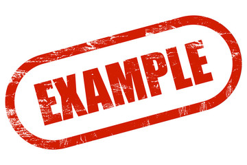 Grunge Stempel rot EXAMPLE