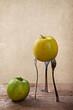 Apfel auf Gabeln