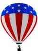Air Balloon, USA Flag