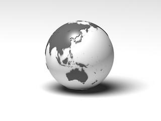白黒の地球