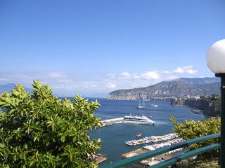 Terrace on the Cliffs of Sorrento in Campania Southern Italy