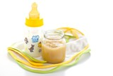 Baby milk and apple puree