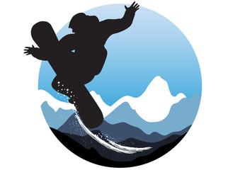 wintry sporty emblem