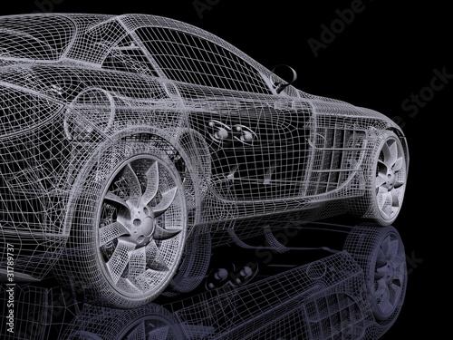 siatka-3d-samochodu-koncepcyjnego