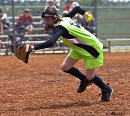 Girl Softball Player