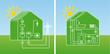 Photovoltaik und Solarthermie schematisch