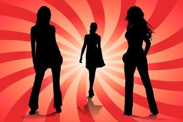 mujeres jovenes posando