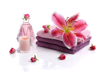 spa with rose petals