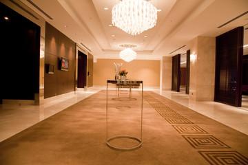 empty corridor at hotel in Turkey