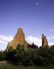 Tall red rock in Garden of the gods