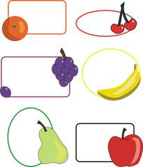 etiquetas frutas