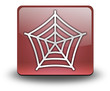 "Red 3D Effect Icon ""Spider Web Symbol"""