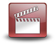 "Red 3D Effect Icon ""Clapperboard"""