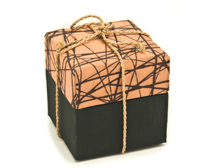 brown fabric box