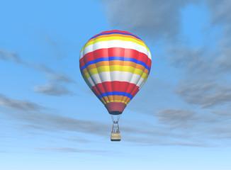 globo aerostático en el cielo