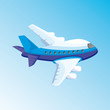 cartoon illustration with airplane