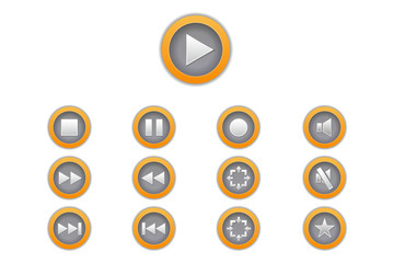 Boutons de lecteurs vidéo et musique