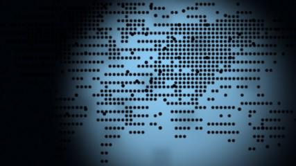 World map computer animation