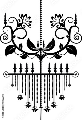 Stock Vector Illustration: Chandelier