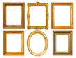 few Luxury gilded frames
