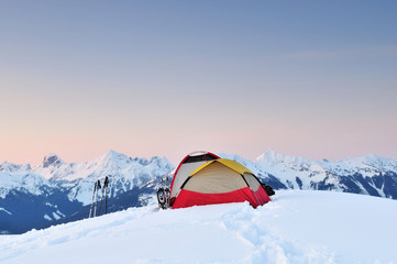 Winter Camping at Huntoon point on Artist Ridge