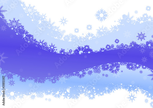 white and blue background