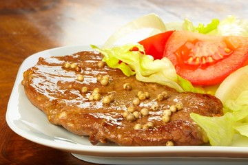 Grilled Steak with Salad