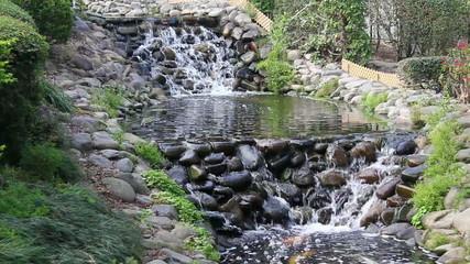 Waterfall in beautiful Spring