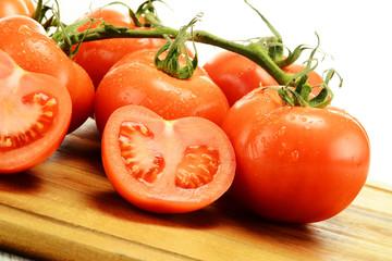 Tomatoes on breadboard