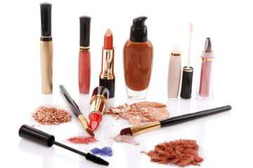 different cosmetics, beauty concept