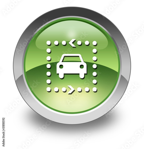 "Green Glossy Pictogram ""Driving Tour"""