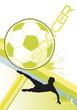 soccer poster dynamic vector