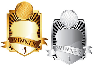 two golf emblems vector