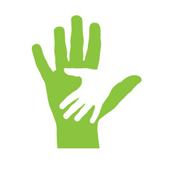 Logo children hand # Vector