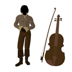 Ludwig Van Beethoven Illustration Silhouette