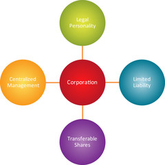 Corporation properties business diagram