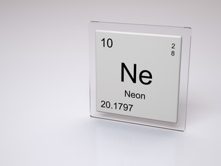 Neon - symbol Ne - chemical element of the periodic table
