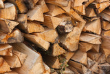 Well stocked Woodpile. poster