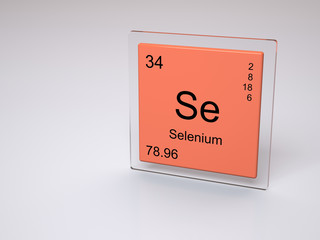Selenium - symbol Se - chemical element of the periodic table