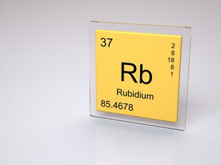 Rubidium - symbol Rb - chemical element of the periodic table