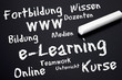 Tafel mit e-Learning