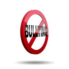 No bullying sign 3d